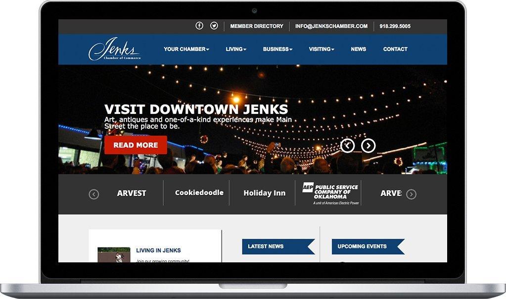 Jenks Chamber of Commerce - Responsive Website