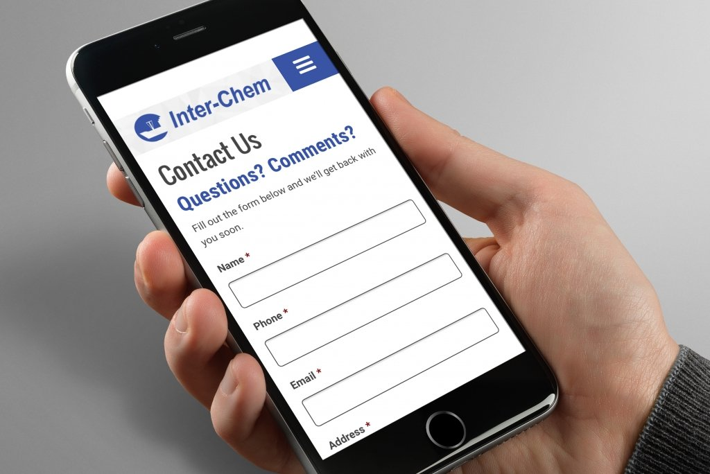 Inter-Chem Mobile Website
