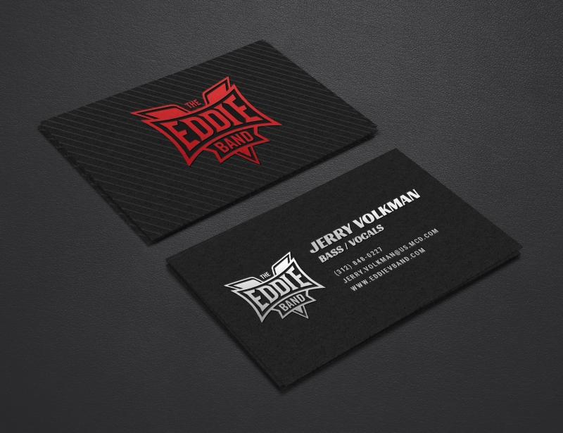 Eddie V Band Business Cards