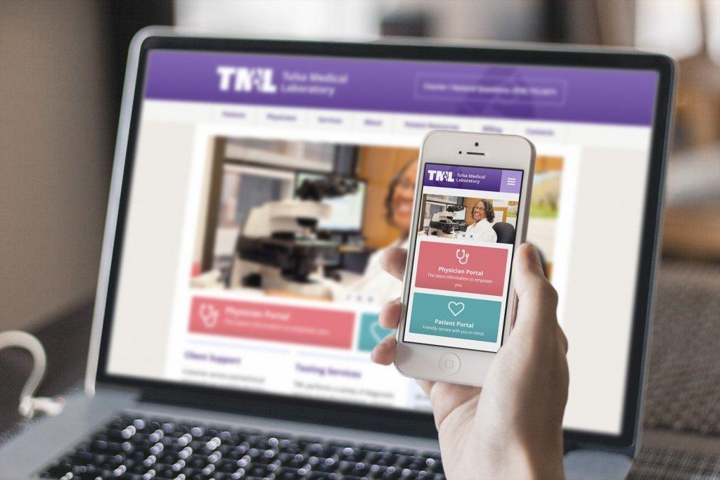 Tulsa Medical Labs Desktop & Mobile Website Design