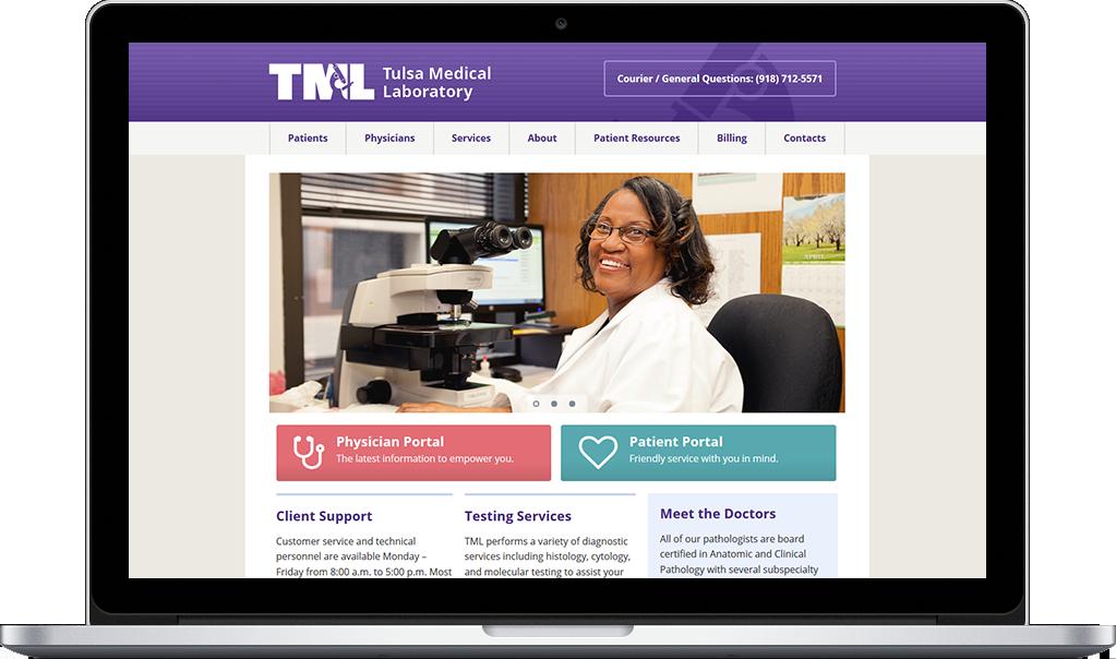 Tulsa Medical Labs Website Design