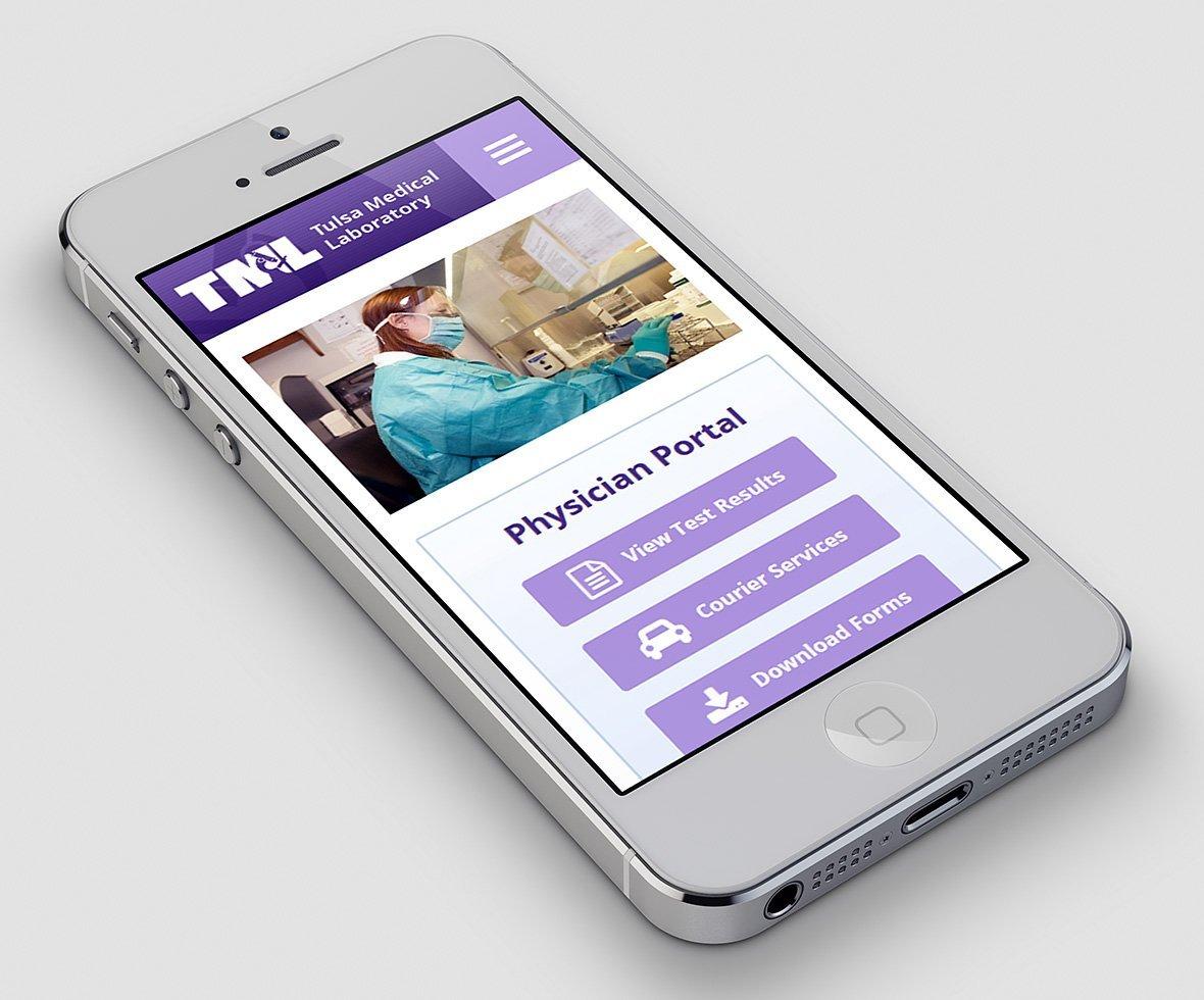 Tulsa Medical Labs Mobile Website Design