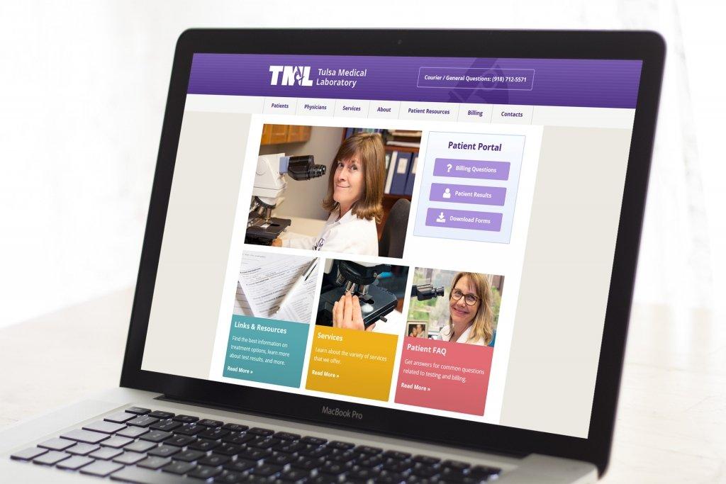 Tulsa Medical Labs Patient Portal Website Design