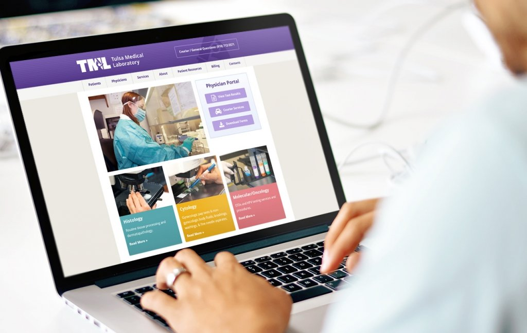 Tulsa Medical Labs Physician Portal Website Design