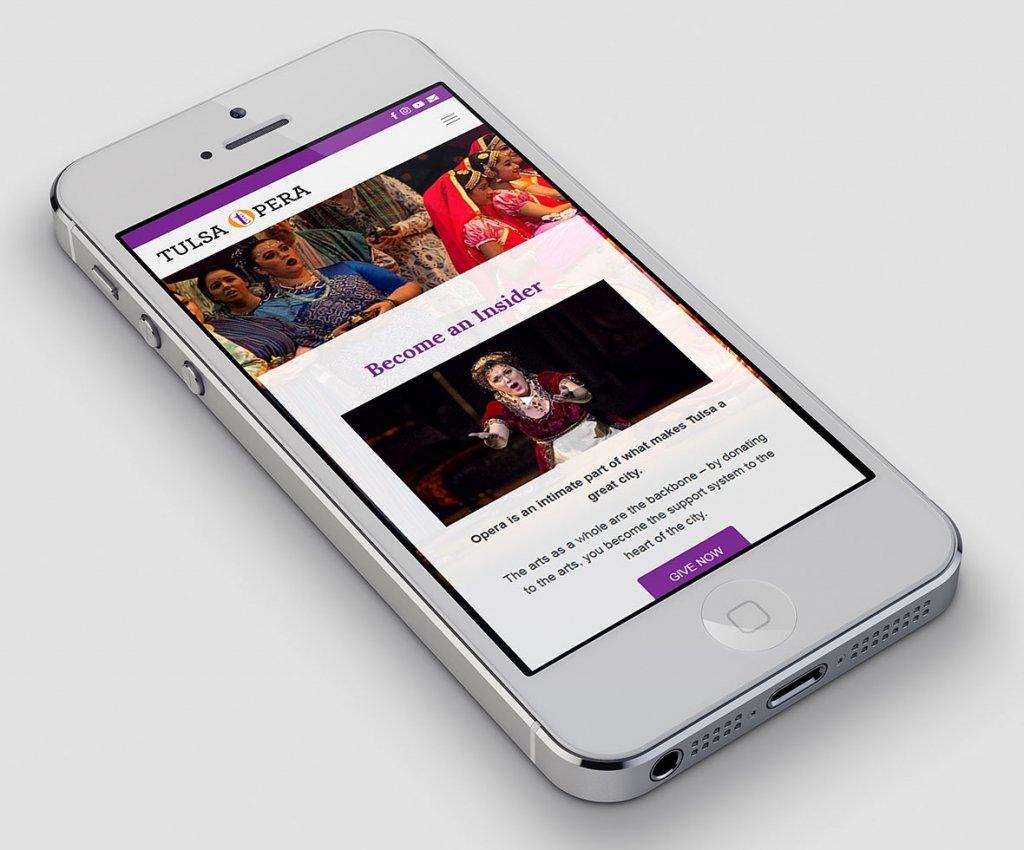 Tulsa Opera Mobile Website Design