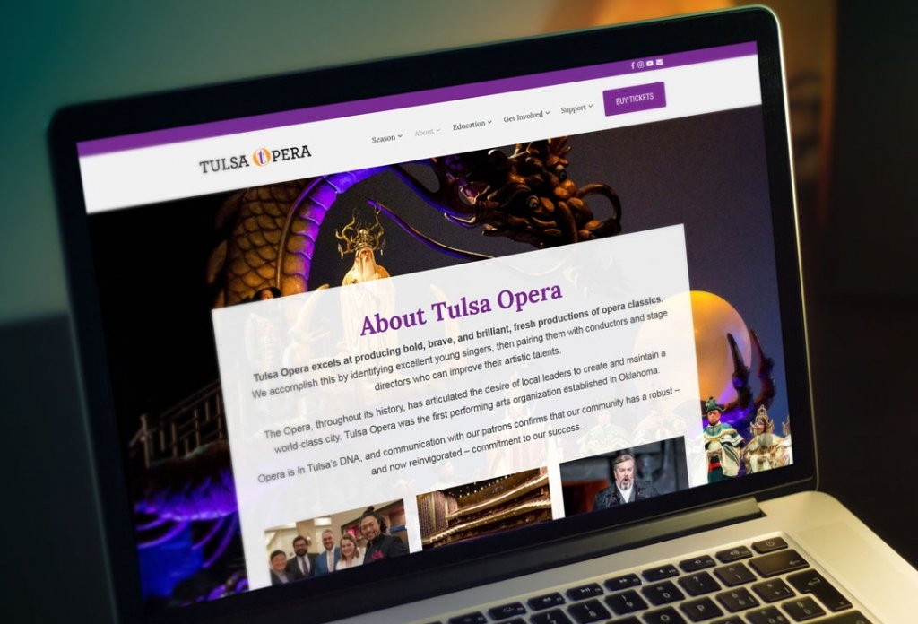 Tulsa Opera Website Design