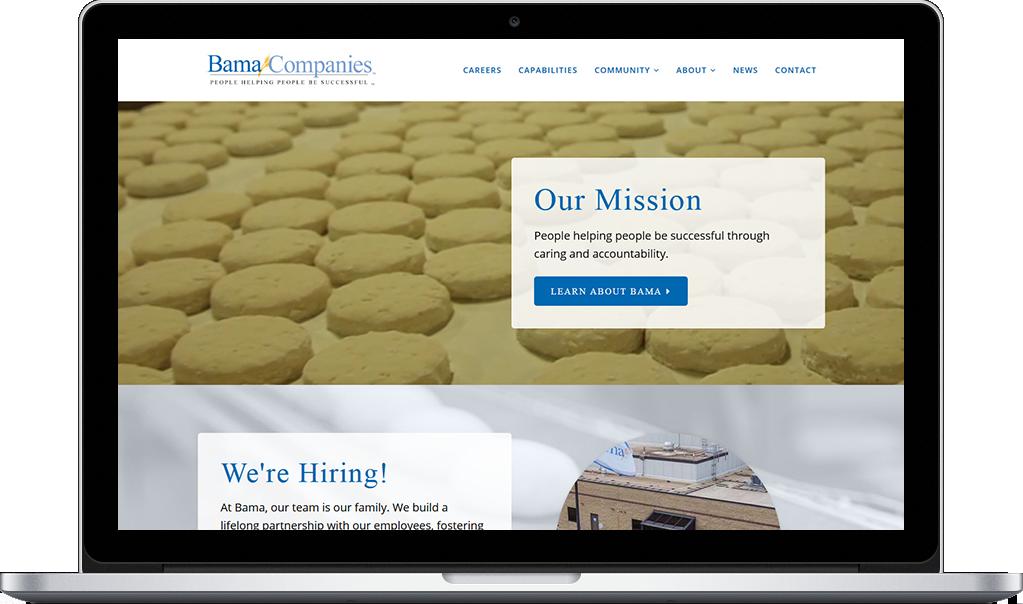Bama Desktop Website