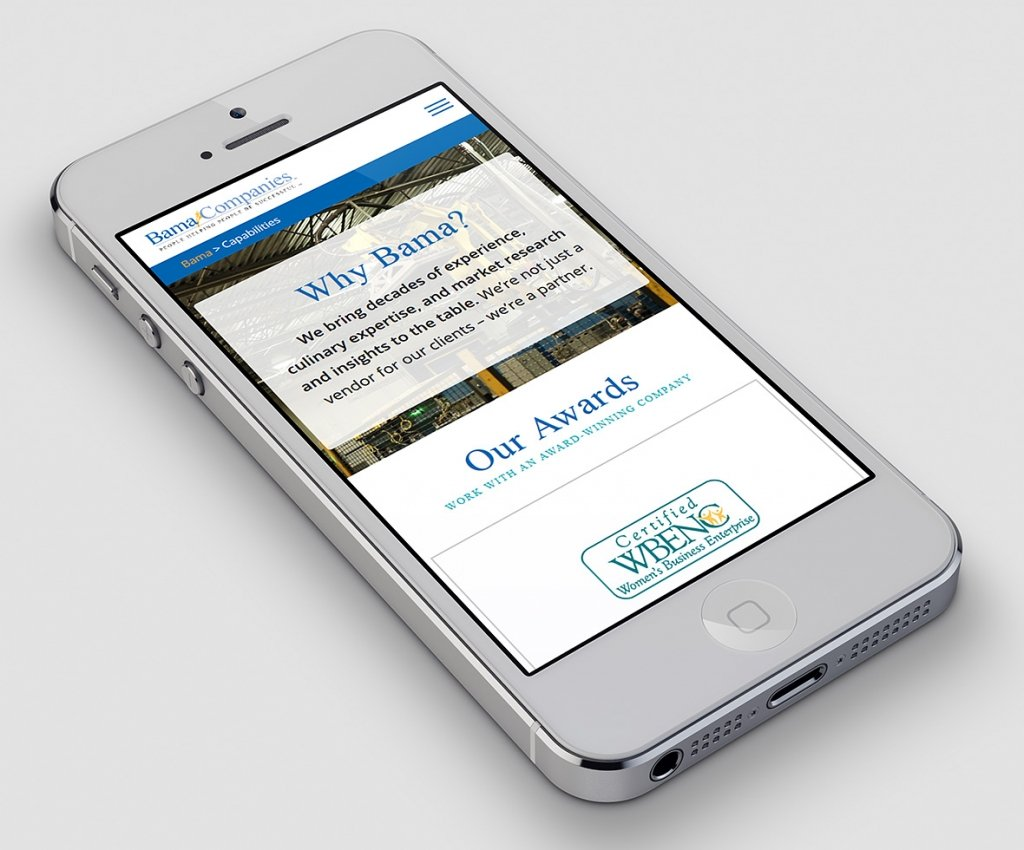 Bama Mobile Website