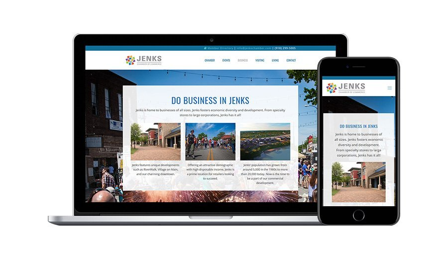 Jenks Chamber Business Page