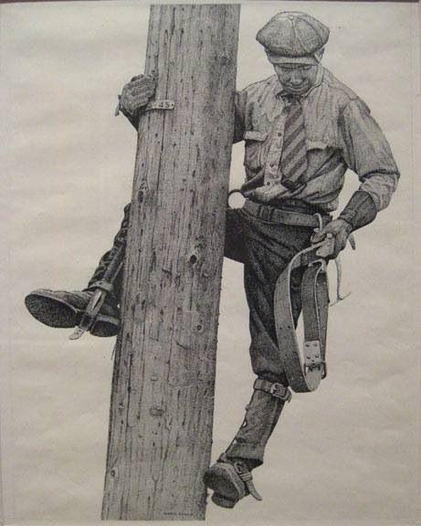 Historic Lineman Photo