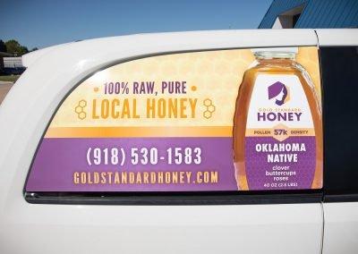 Gold Standard Honey - Vehicle Wrap Rear Window