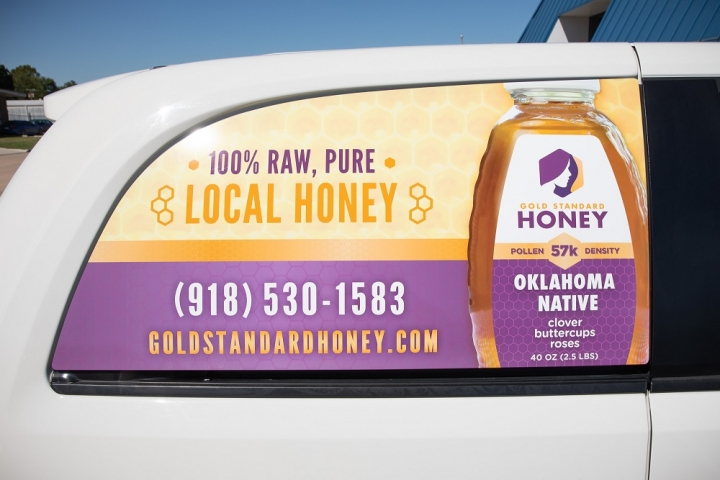 Gold Standard Honey - Vehicle Wrap Rear Window