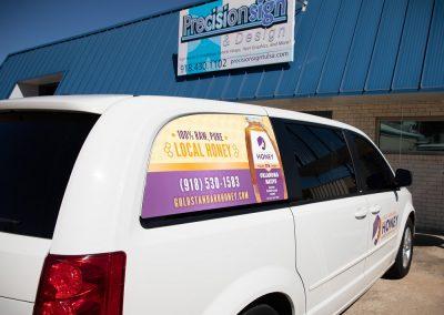 Gold Standard Honey - Vehicle Wrap Back 3/4 View
