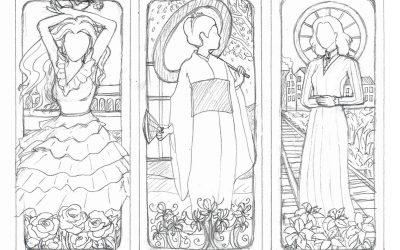 Triptych sketch for Tulsa Opera